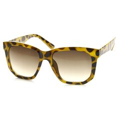 Trendy Thick Frame Fashion Edge Cut Horned Rim Sunglasses 8914