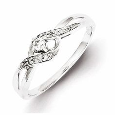 Metal Material: .925 Sterling Silver - Average Weight: 1.58 grams Width of Band : 2 mm - Rhodium Plated for Tarnish Resistance - Total Carat Weight: 0.120 Stone Type: Diamond Stone Creation Method: Na