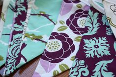 Love these banners. . yummy purple and aqua colors.