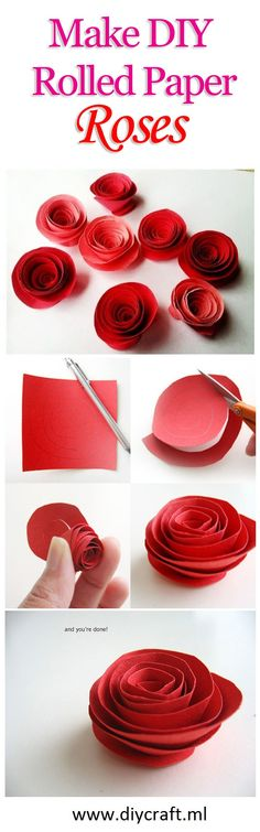 How to Make DIY Rolled Paper Roses - Quick & Easy Tutorial