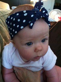 baby, headband, polka dots