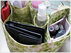 DIY Purse Organizer Pattern | Pocket bag organizer to keep my tote bag tidy and neat