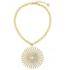 Vince Camuto Yellow Gold-Tone Drama Burst Pendant Necklace (1.849.615 IDR) ❤ liked on Polyvore featuring jewelry, necklaces, yellow, gold necklace pendant, gold jewellery, druzy pendant, yellow gold pendant necklace and gold necklace