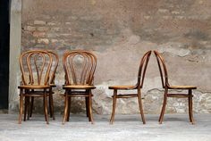 Chaises bistrot type Thonet