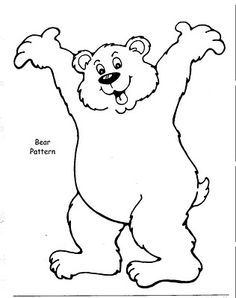 bear hunt coloring pages - photo#23