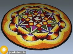 It is not hard to find top onam pookalam designs for this Onam festival. Pookalam (floral carpet) or floral designs are an integral colorful Rangoli Designs Images, Beautiful Rangoli Designs, Beautiful Mehndi, Mehndi Designs, Onam Greetings, Onam Pookalam Design, Onam Wishes, Freedom Bird, Onam Festival