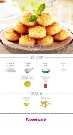 Prepara unas deliciosas cocadas con #Tupperware #Recetas #Cocadas