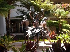 At the entrance of the Grand Wailea