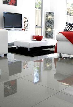 Modern Floor Tiles, Grey Wood Floors, Living Comedor, Apartment Renovation, Kitchen Flooring, Living Room Decor, Outdoor Furniture Sets, Sweet Home, Interior Design