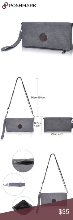 Grey Clutch/Crossbody Bag See above Bags Crossbody Bags