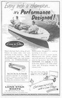 Lone Star Commander Boat 1956 Ad Picture