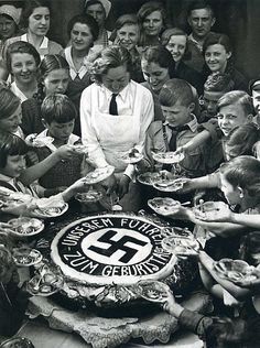 Cake handed out on Hitler's Birthday. April 20, 1934. Berlin.