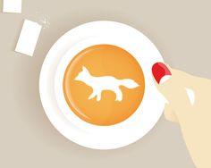C'est l'heure du café avec une pointe de renard
