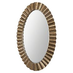 59 Alexandria Antiqued Gold Leaf Scalloped Iron Oval Beveled Wall Mirror >>> This is an Amazon Affiliate link. Click on the image for additional details.