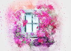 Okno, Kvety, Príroda, Umenie