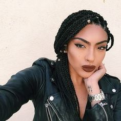 Box braids and hair accessories