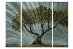 Cypress Tree Metal Wall Art Hanging