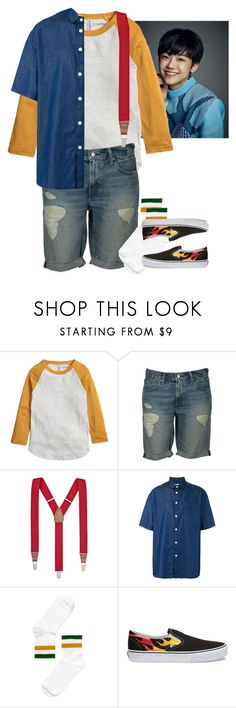 """Jaemin; WLM Ent. Audition."" by kay-anxns ❤ liked on Polyvore featuring Levi's, Club Room, Sunnei, Monki, Vans, men's fashion and menswear"