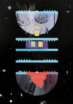 Surreal Twin Peaks illustration