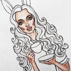 #process #art #illustration #drawing #painting #alice #aliceinwonderland #sketch #fashion #girl #мойтэгмойарт