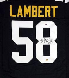 e7762d1206d Jack Lambert Pittsburgh Steelers Autographs Pittsburgh Steelers Jerseys
