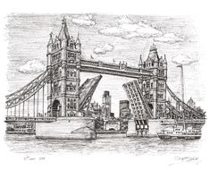 Tower Bridge - drawings and paintings by Stephen Wiltshire MBE