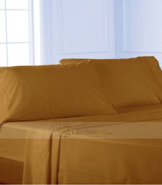 Gold Queen Egyptian Cotton Sheet Set 1000 Thread Count