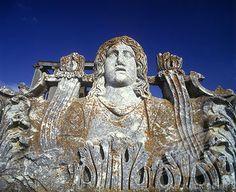 , Face of medusa, Temple of Zeus ruins, Cavdarhisar, (aezani), Turkey.