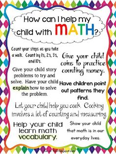How can I help my child with Math? Free printables from Fun in First