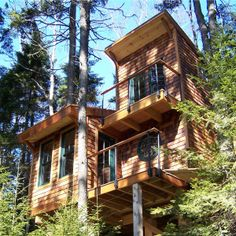 tree houses for adults | The tree house project was featured in DownEast magazine in August ...