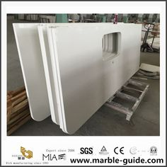 Sink Countertop, Quartz Countertops, Kitchen Countertops, Kitchen Worktop, Stone Slab, Wooden Crates, Work Tops, White Quartz, Pure White