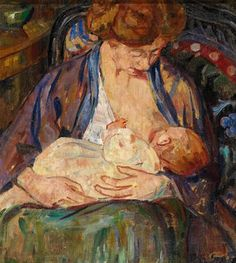 Paul Gauguin (1848-1903, France)   Maternity (mère qui allaite)