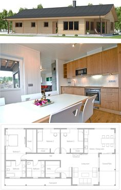 Home Plan, Small House Plans House Layout Plans, Dream House Plans, Modern House Plans, House Layouts, Small House Plans, Modern House Design, House Floor Plans, Bungalow, Co Housing