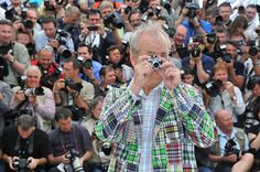 Bill Murray taking pictures with his own camera on the red carpet at Cannes Film Festival 2012. Meta.