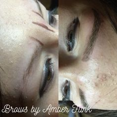 Microblading by Amber Funk at First and Pine #microblading #brows #semipermanent #tattoos #makeup #esthetics #3Dhairstrokes