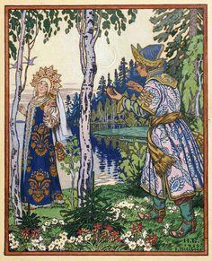 Ивана Яковлевича Билибина, «Никита и царевна, дающая ему свое золотое кольцо» 1933 года.
