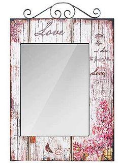 Comprar Espelho Flores Love Retangular Oldway - Compre mais Espelhos 57d7879488eb2