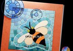 Abeja muestra andamentos Mosaic Art, Murals, Bees, Tiles, Animales, Mosaics