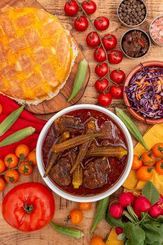 Jewish Recipes, Turkish Recipes, Okra Stew, Iran Food, Iranian Cuisine, Lamb Dishes, Food Wallpaper, Tasty Bites, Middle Eastern Recipes