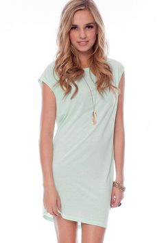 Casual Mint Colored Knit Dress Sale $22