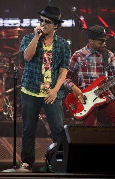 Bruno Mars performs at RodeoHouston March 7, 2013. The pop superstar's stadium debut drew 75,175 fans. Photo by James Nielsen / Houston Chronicle