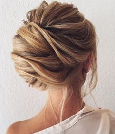 Side Messy French Twist Updo
