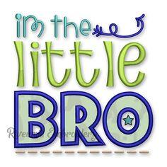 Little Bro Applique Machine Embroidery Design #2