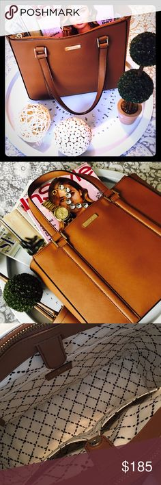 kate spade Leather Purse/Bag Beautiful Cognac Colored Bag. Perfect to carry all of your essentials! Where will this Kate take you?! kate spade Bags
