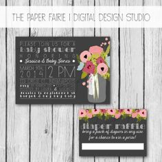 Baby Shower Invitation Diaper Raffle Set  Bridal by ThePaperFairie, $12.00