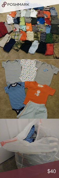 ✔12 Month Boy Huge lot. 12 month boy. Great Condition. Includes shirts (long and short sleeves), onsies (long and short sleeves, sweaters, vest, shorts, pants, pjs, etc. No smoking. No pets. No stains. Freshly washed. Price is firm unless bundled. Added more pieces that are not pictured. Matching Sets