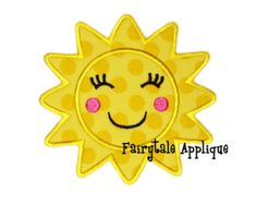Digitial Machine Embroidery Design - Sunshine Applique