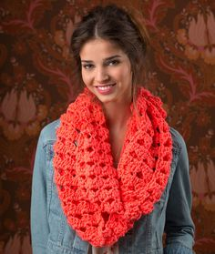 Turn Up the Volume Cowl Free Crochet Pattern from Red Heart Yarns