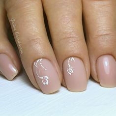 Semi-permanent varnish, false nails, patches: which manicure to choose? - My Nails Frensh Nails, Manicure And Pedicure, Pink Nails, Cute Nails, Pretty Nails, Hair And Nails, Acrylic Nails, Bride Nails, Wedding Nails