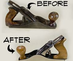 I saw an old hand plane in a used tool store and figured I would have a go at restoring it. I think the before and after speaks for itself. ...